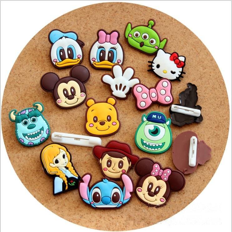 Creative cute cartoon mickey snow treasure KT cat safety pin.