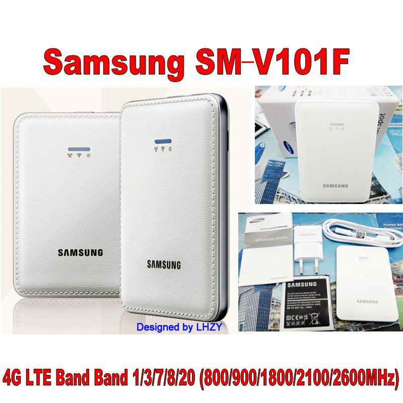 Unlocked Samsung SM V101F 4G LTE Cat4 150Mbps Mobile WiFi router PK HUAWEI E5573 E5575 E5770