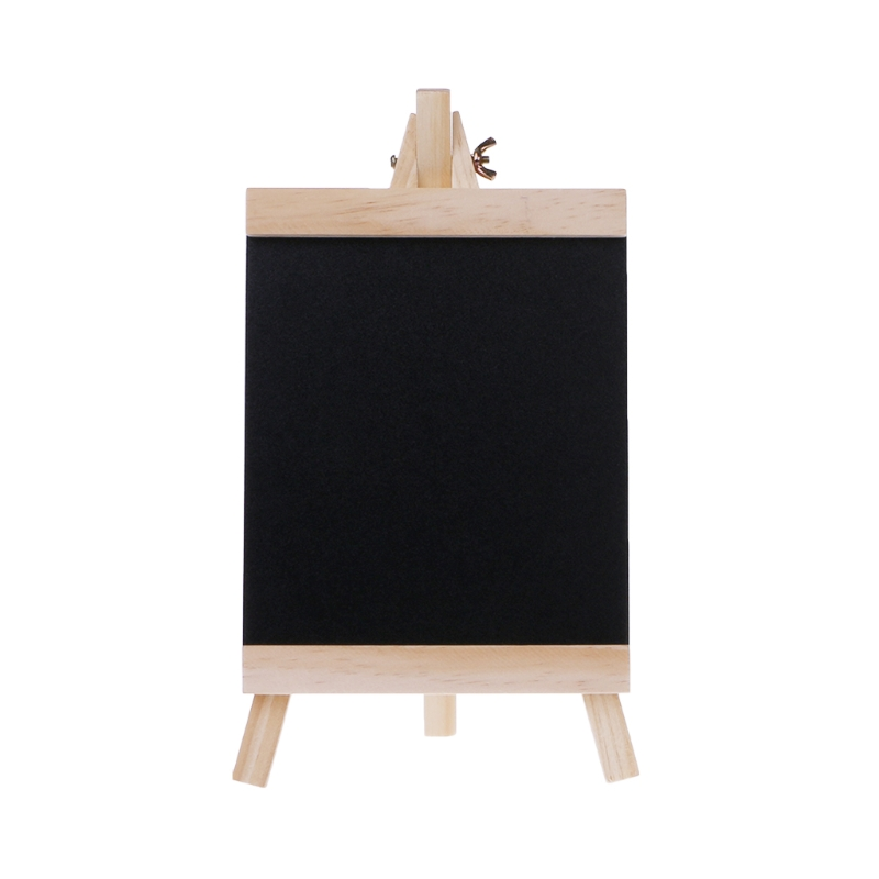 Desktop Message Board Blackboard Easel Chalkboard Kids Wood Writing Boards Collapsible School Supplies Size M
