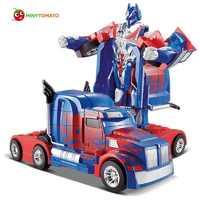 O envio gratuito de luxo modelos sportscar deformação robô transformação controle remoto rc carro brinquedos crianças presente tt669