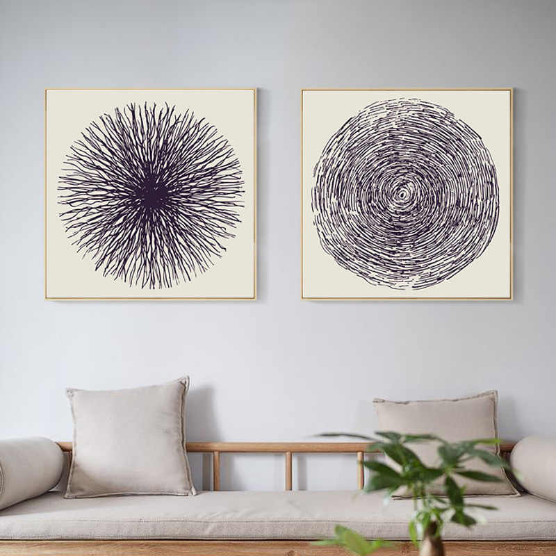 Modern Canvas Painting Abstract Nordic Posters Large Tree Rings Pictures Prints Art Wall for Bedroom Home Decor No Frame quadro