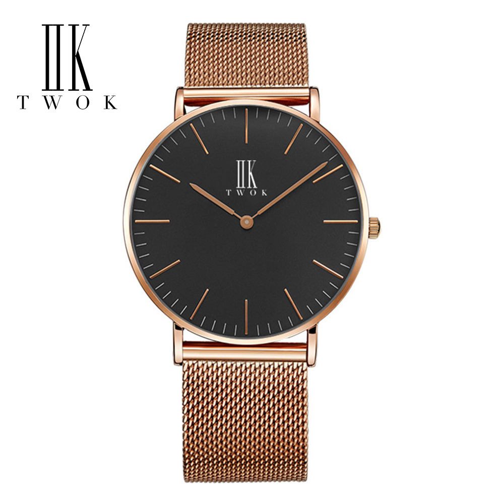 IIK loves watches wrist watch for couples stainless steel watches couples pair Quartz unisex wrist watch muhsein hot sellingnew lovers quartz watches stainless steel watch business women dress watches for couples free shipping