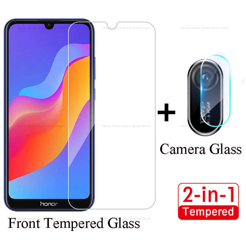Front Tempered Glass & Back HD Camera Glass For Huawei Y5 Y6 Y7 Pirme 2018 Screen Protector For Huawei Y6 Y7 Pro 2019 2PCS Glass