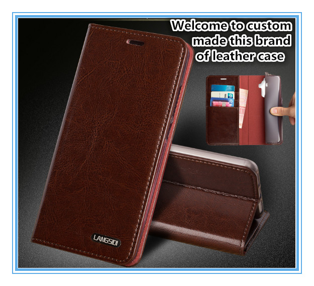 TZ10 Magnet genuine leather flip cover for Lenovo PHAB 2 Plus(6.44') phone case for Lenovo PHAB 2 Plus case with card pocket