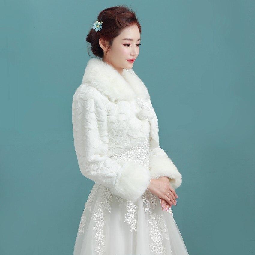 Winter Wedding Coat Faux Fur Bridal Wedding Jackets Winter Coat For ...