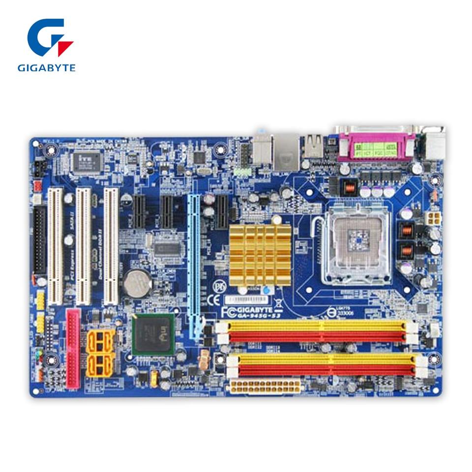 все цены на  Gigabyte GA-945G-S3 Original Used Desktop Motherboard 945G-S3 945G LGA 775 DDR2 ATX  онлайн