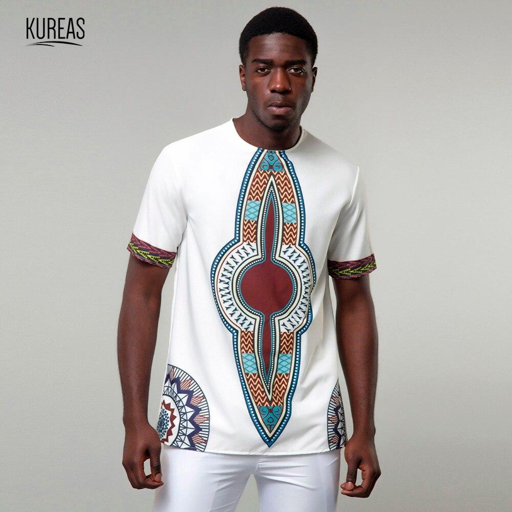 Camiseta Dashiki para hombre kurea camiseta tradicional africana Casual camiseta moda tribal ropa verano Camisetas manga corta