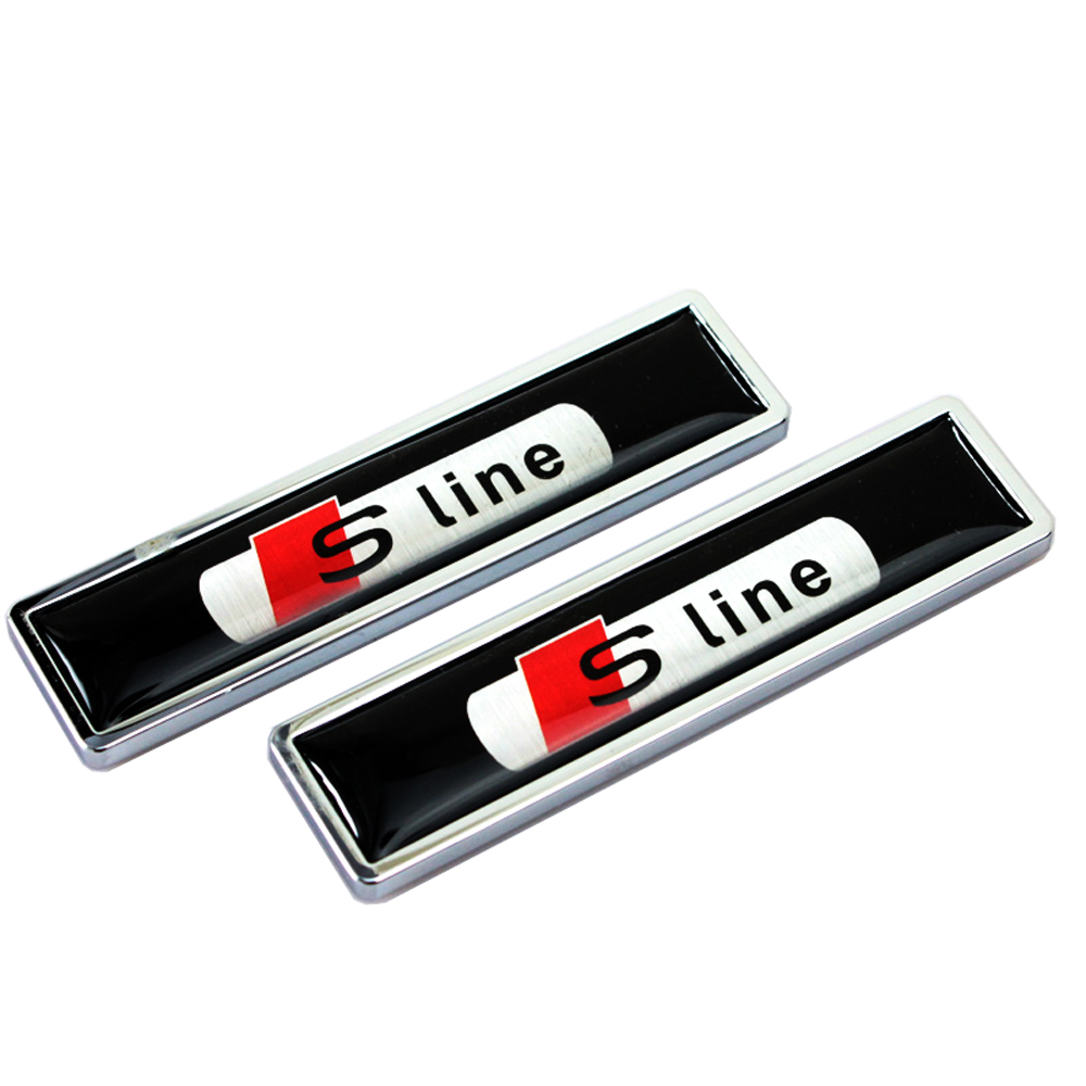 Car-Styling Decoration Decal Side Door Sticker For Audi Sline Logo A4 B6 A3 A6 C5 Q5 Q7 A5 A4 B7 TT S3 S5 S7 A4 B8 A4L A6L A6 C6 2xled car door logo projection warning light for audi a3 a4 b6 a6 c7 c5 q7 q5 a5 80 b7 b8 tt b8 rs4 rs5 rs6 s4 s5 s6 s7 quattro