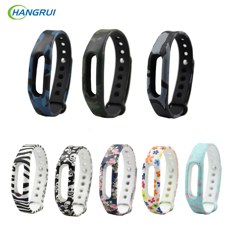 HANGRUI Colorful Strap For Xiaomi Mi Band 1S Strap Replacement Smart Band Miband Accessories For Xiaomi miband 1s / 1A Wristband tpu band with white round dot for xiaomi miband 1s