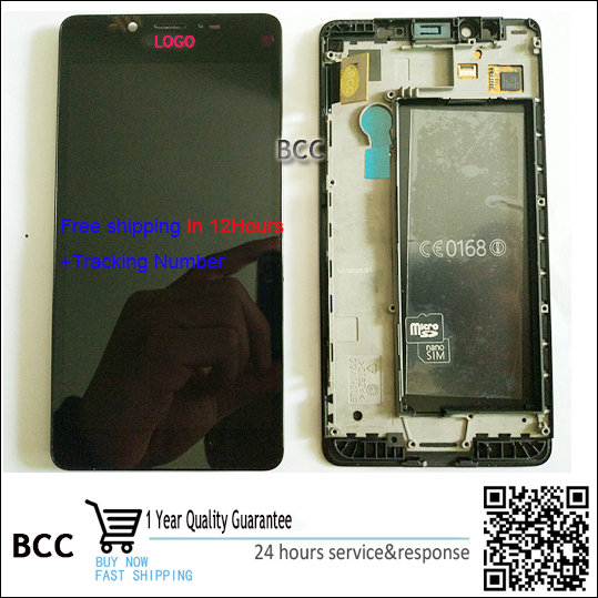 Original LCD Display and Touch Screen Digitizer with frame For nokia lumia 950 Test ok Free