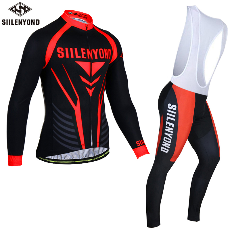 Siilenyond 2017 Winter Thermal Fleece Cycling Jersey Maillot Ropa Ciclismo MTB Long Sleeve Keep Warm Bike Wear Bicycle Clothing tasdan winter thermal fleece cycling jersey long sleeve mountain bike ropa ciclismo bicycle mtb bicicleta clothing gel pad