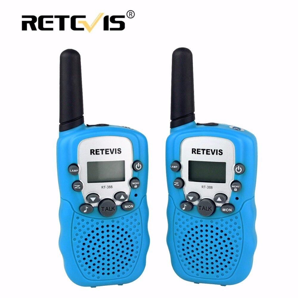 imágenes para 2 unids Mini Radio de Dos Vías Walkie Talkie Retevis RT388 Juguete de Los Niños PMR446 Display LCD Linterna VOX UHF Radioafición Útil Regalo de Los Cabritos