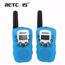 2 шт. мини двухстороннее радио Retevis RT388 детская игрушка Walkie Talkie UHF PMR446 ЖК-дисплей фонарик VOX удобный радиолюбителей подарок для детей