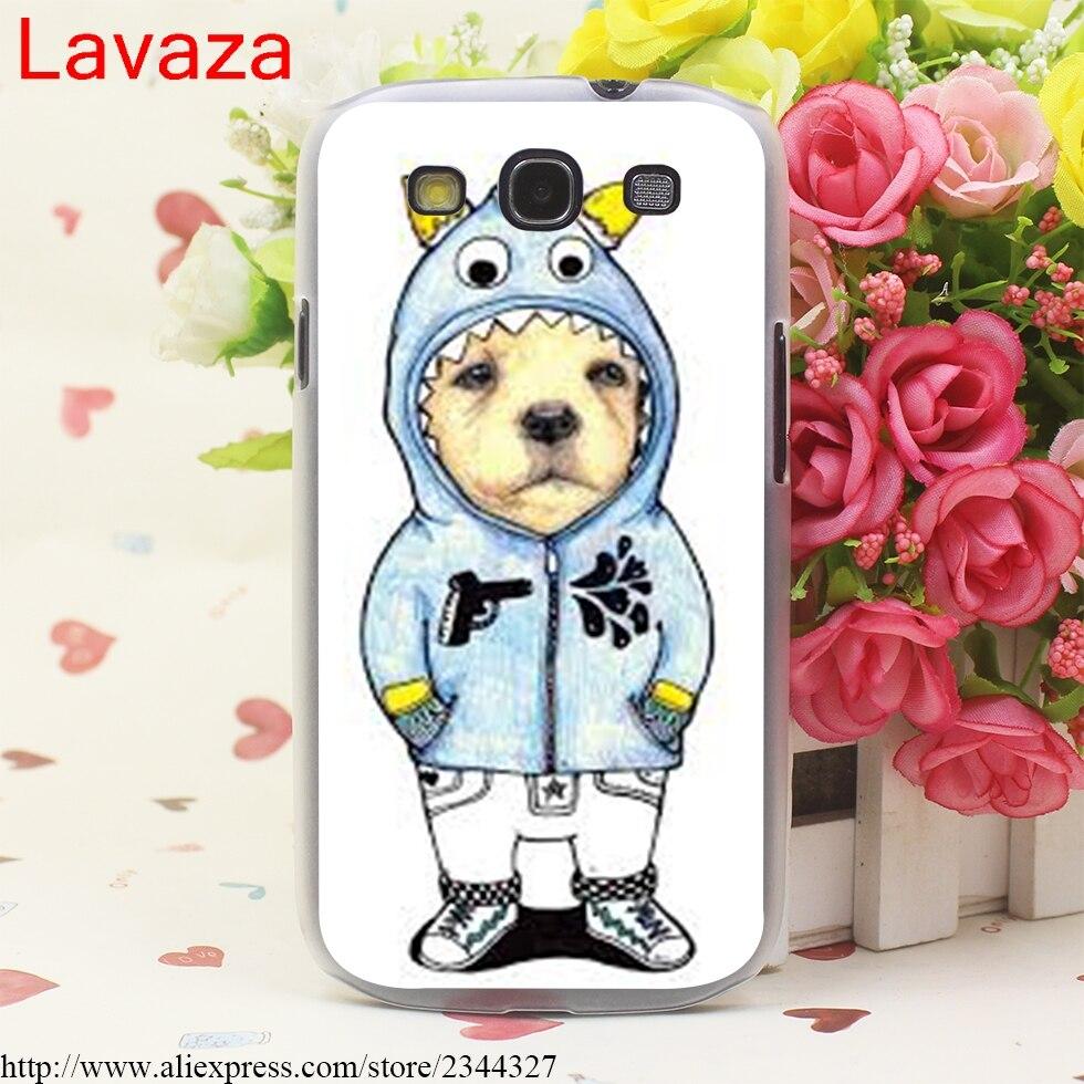 Lavaza Tattooed Bullterrier Cute dog Biaoqing Hard Transparent for Galaxy S4 S5 & Mini S6 S7 S8 edge S6 Edge Plus