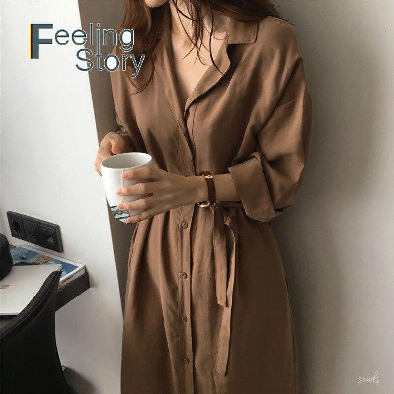 Coats Windbreaker Spring Loose Long-Section Autumn Korean Plus-Size Women New BF