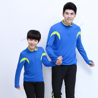 Adsmoney Men Children Sport Suit Shirts with Pant Running Jacket Polyester Long Sleeve Fitness Running Jacket Jogging Sportswear