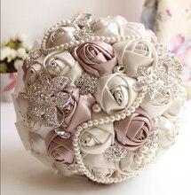 2017 Ivory White Bridal Wedding Bouquet de mariage Pearls Bridesmaid Artificial Wedding Bouquets Flower Crystal buque de noiva