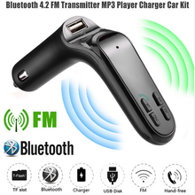 USB Автомобильное зарядное устройство прикуриватель беспроводной Bluetooth MP3 музыкальный плеер lcd hands-free fm-передатчик большой запас