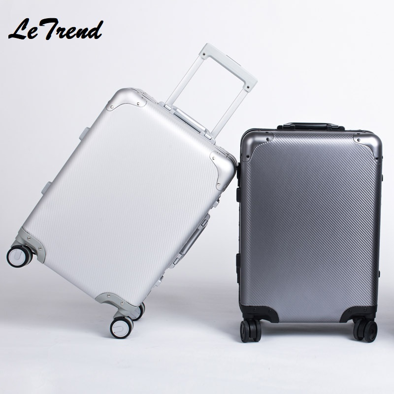 New 20 24 Inch Retro Rolling Luggage 100% Aluminium Trolley Solid Travel Bag 20 Women Boarding Bag Carry On Suitcases TrunkNew 20 24 Inch Retro Rolling Luggage 100% Aluminium Trolley Solid Travel Bag 20 Women Boarding Bag Carry On Suitcases Trunk