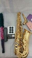Hot Selmer SAS-803 E-flat alto saxophone golden gold Lacquer Metal Mouthpiece saxophone shipping