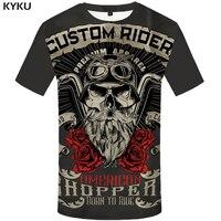 KYKU Brand Motorcycle T Shirt Punk T Shirt Knight Shirts 3d T Shirt Men Casual Rock