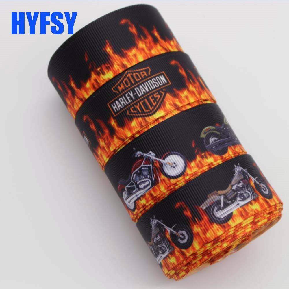 Hyfsy 10015 25 мм Черный Мотоцикл Спортивные лента 10 ярдов DIY ручной волосы лук Одежда материалы подарочная упаковка grosgrain ленты