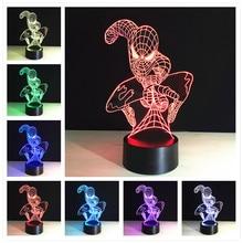 3D Lamp Batman Star Wars Nightlight Visual Led Night Lights Illusion