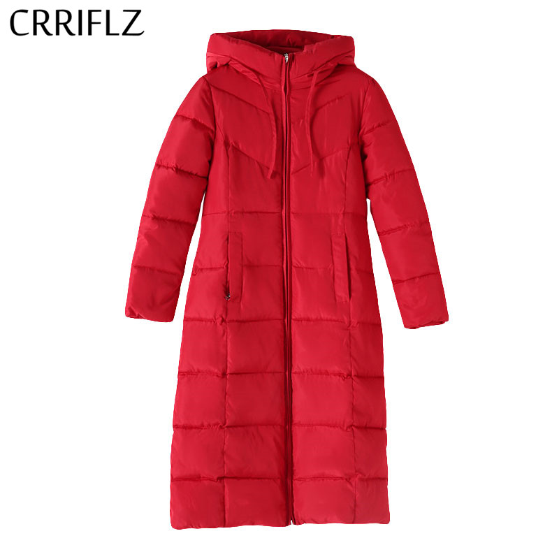Plus Size 6XL Women Thicken Hooded   Parkas   Long Warm Winter Jacket Women Solid Coat Female   Parka   CRRIFLZ New Winter Collection