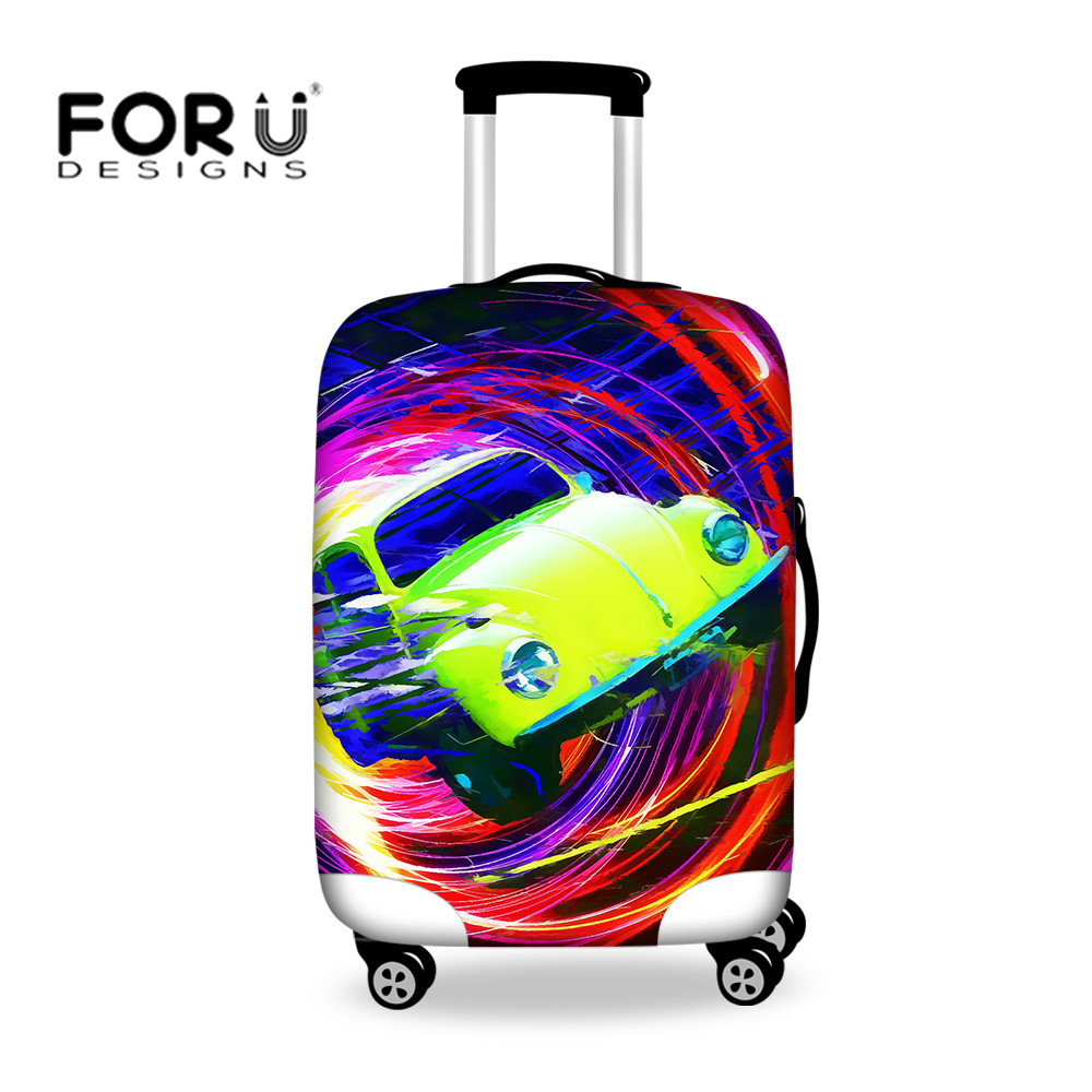 6Optional Mutil-Color Casual painting Trunk cover Apply to 24-28inch Small Gift For Child Durable Polyester Fabric Valiz Vlope