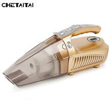 Chetaitai Multi-Function Portable Car Vacuum Cleaner 12V-220V Wet And Aspirador Pressure Pneumatic Lighting Tire Inflatable Pum