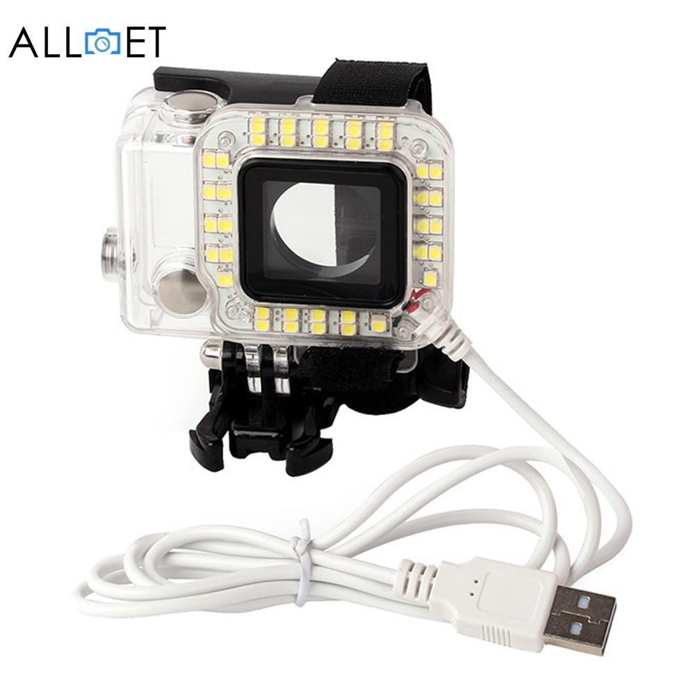 New Gopro Accessories Camera Lens Led Fill Light Mount Hero 3 Acc Remote 20 4 Mounting Usb External Flash Lighting In Photo Studio From