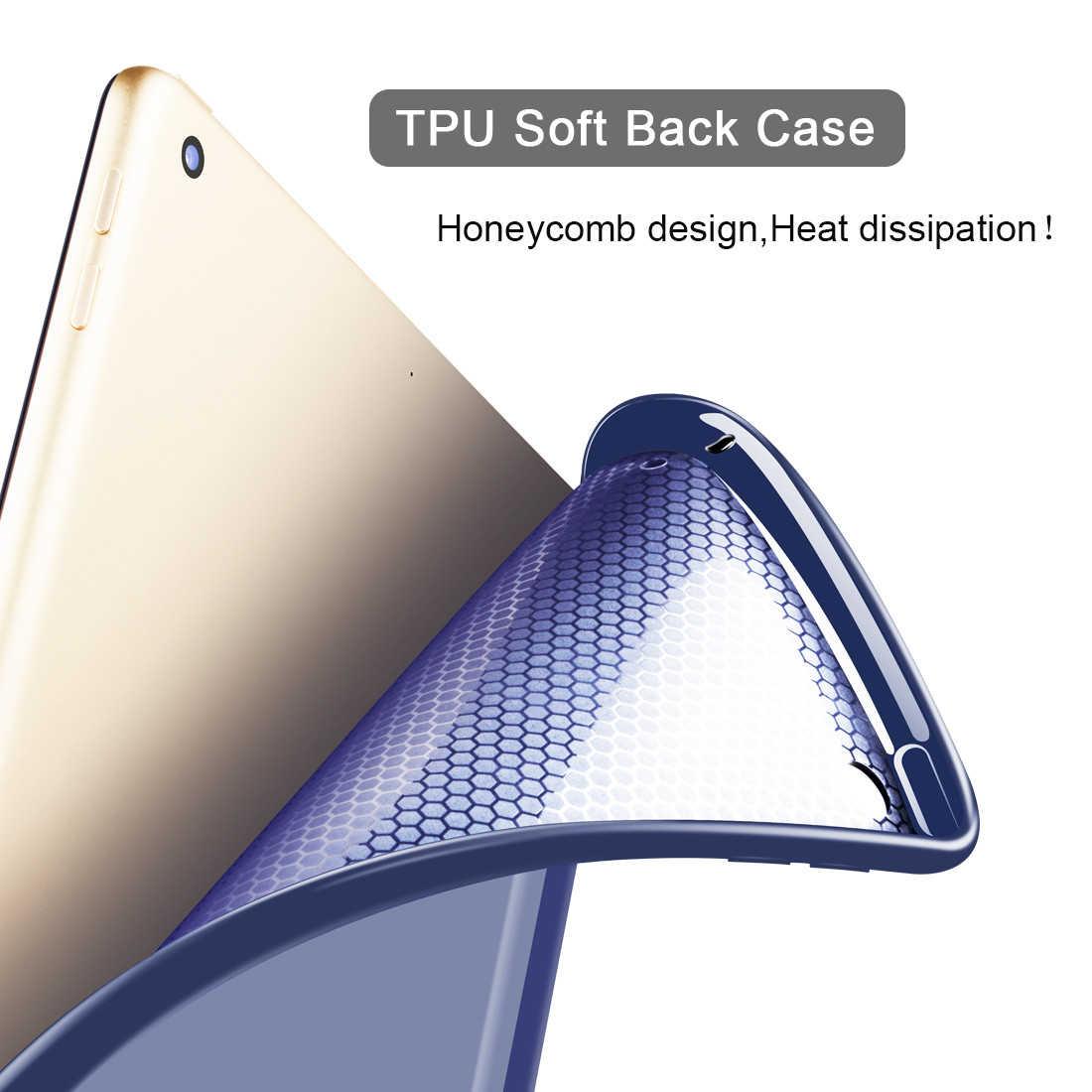 """حافظة لجهاز iPad 2 3 4 PU جلد سيليكون ناعم ثلاثي الطي غطاء ذكي لجهاز iPad 4 3 2 9.7 """"فوندا فوليو ستاند مع النوم التلقائي/ويك"""