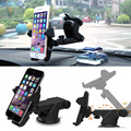 Telescopic Arm 360 Adjustable Sucker Mount Stand Holder Black For Cell Phone GPS Accessories
