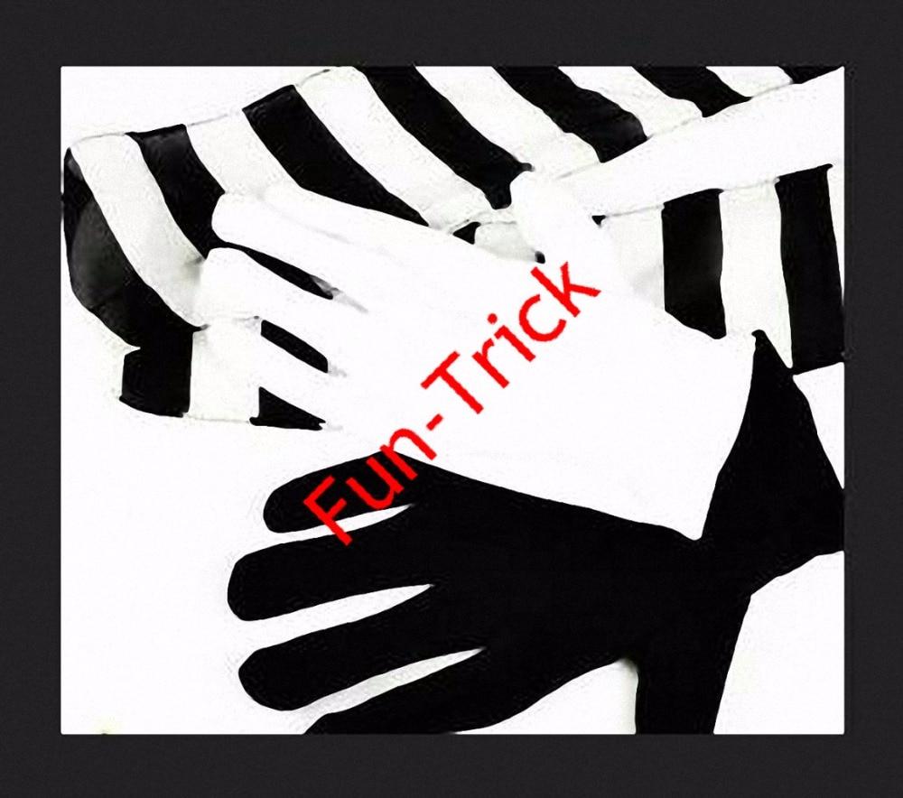 Black gloves white magic - Black White Gloves To Zebra Streamer Gloves Streamer Magic Trick Stage Magic
