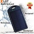 5000 mah banco portátil de energía solar al aire libre con doble usb de emergencia cargador de batería externa para samsung iphone teléfonos inteligentes