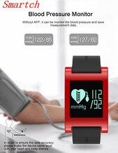 Smartch цифровой Спорт Смарт Часы сердечного ритма Смарт Браслет Водонепроницаемый крови Давление монитор SmartWatch шагомер для IOS Андро