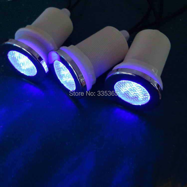 10pcs waterproof multic RGB LED underwater light / bath tub pool ...