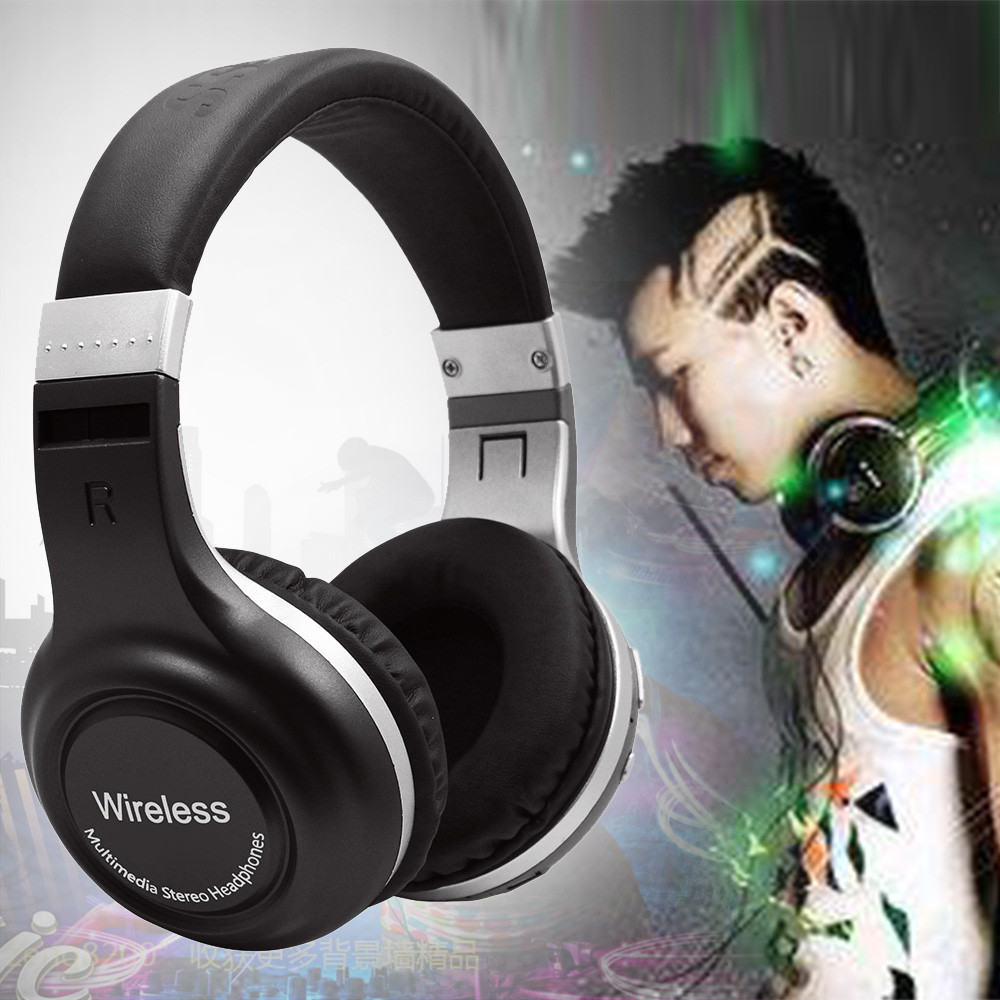 Wireless Bluetooth 4.1 Headphones Headset Noise Cancelling Over Ear Microphone  Earphones