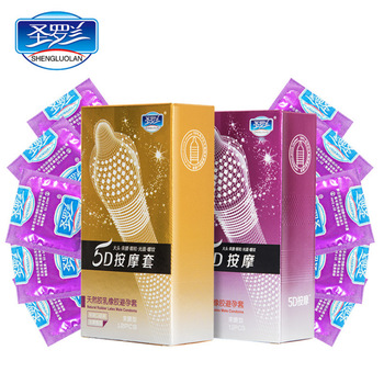 Condones con punta de partícula acanalada punteada 24 unids/lote gran calidad g-spot Latex para hombres preservativos para adultos juguetes sexuales