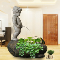 European Home Decoration Humidifier Water Fountain Decoration Fish Tank Ornament Lucky Decoration European Ornaments Gift