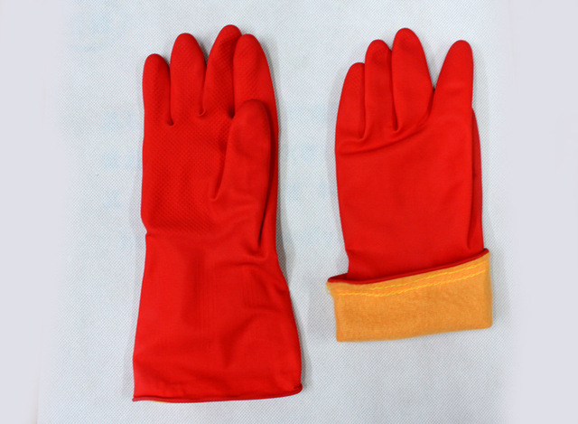 6e11f86bafe1 Wholesale High quality Household Gloves Dishwashing gloves Rubber gloves  Washing gloves with Flannel lining