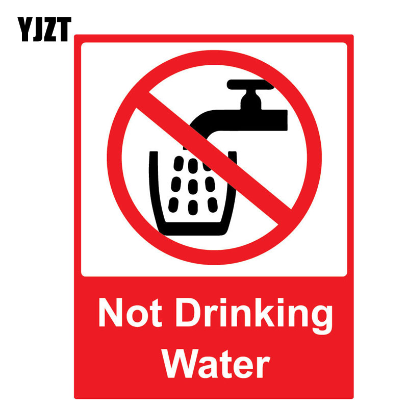 YJZT 10.9CM*14.2CM Funny NOT DRINKING WATER Reflective Decal Personality Car Sticker C1-7567