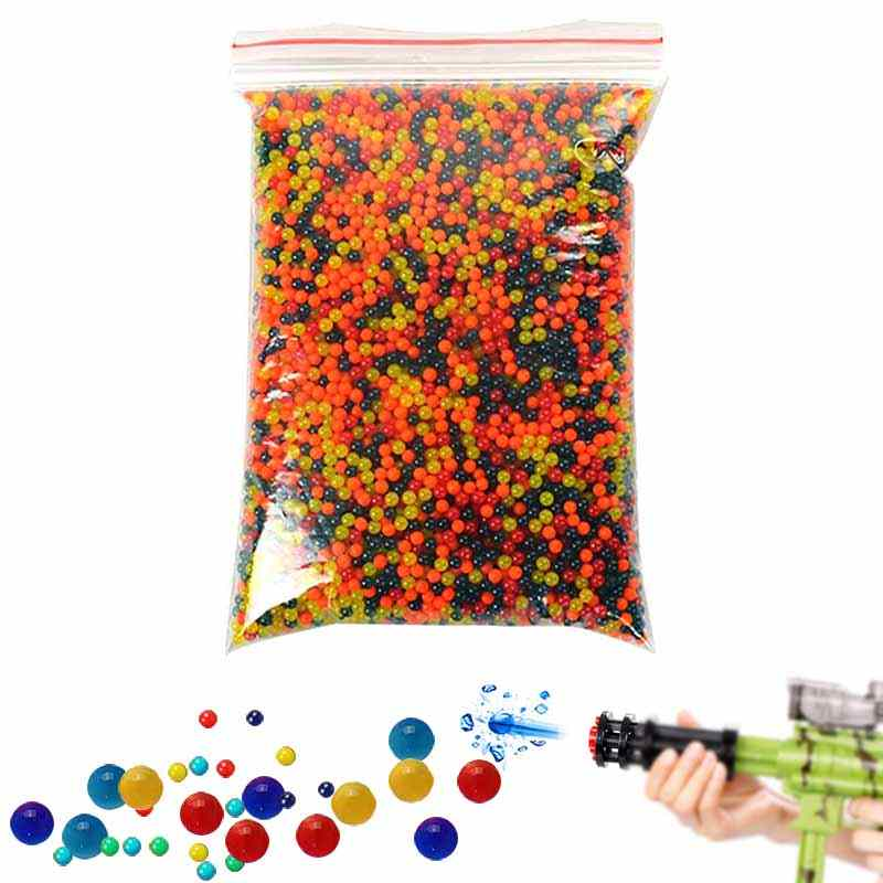 2018 New 10000pcs /Bag Paintball Balls Pistol Toy Bomb Party Toys Shooting Water Crystal Ball Soft Bullets  -17 88