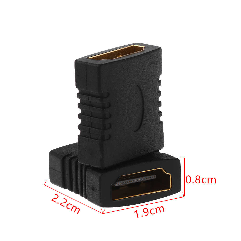 1 Chiếc 2019 Đen Nóng HDMI Nữ Để Nữ F/F Khớp Nối Mở Rộng Kết Nối Adapter Chuyển Đổi HDTV 1080P Dropshipping