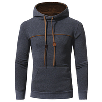 2018 Men S Brand Unique Korean Fashion Long Sleeved Flange Color Hoodie High End Casual Slim