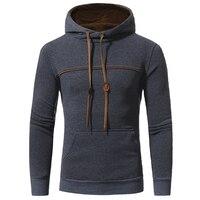 2018 Men S Brand Unique Korean Fashion Long Sleeved Flange Color Hoodie High End Casual Slim