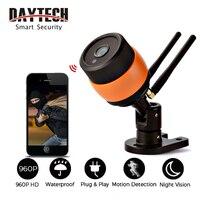 DAYTECH CCTV Surveillance IP Camera Wireless WiFi Security Bullet Camera 720P HD Waterproof IR Night Vision