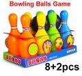Бесплатная Доставка пластиковая Игрушка Боулинг детские игрушки Боулинг Шары Игры Интеллектуальные детские игрушки brinquedos meninos для 3 лет