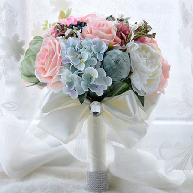 Gorgeous Wedding Bouquet Colorful Bridal Simulation Flowers Artificial Flower Bride Bouquets Accessories