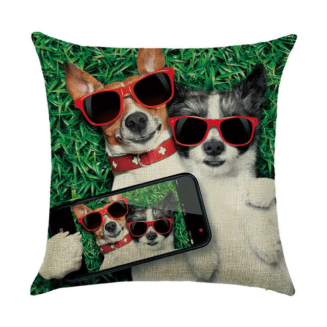 animal housse de coussin chien pour enfants decoratif taie d oreiller pour canape coussin de